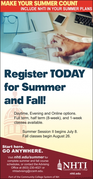 Register Today For Summer And Fall!