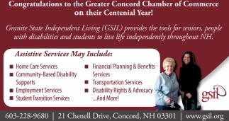 Assistive Services  May Include