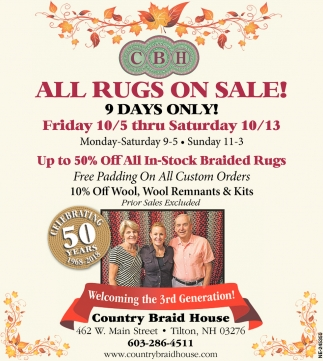All Rugs On Sale!