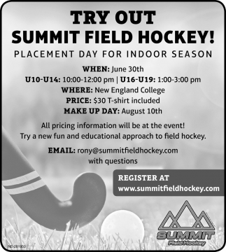 Try Out Summit Field Hockey!