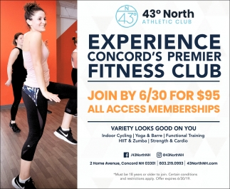 Experience Concord's Premier Fitness Club