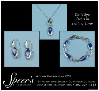 Cat's Eye Ovals In Sterling Silver