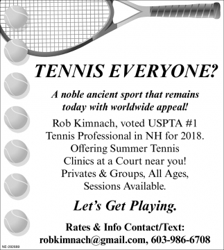 Tennis Everyone?