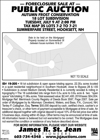 Foreclosure Sale At Public Auction, James R. St. Jean ... on map of hampton nh, town of somersworth nh, map of brentwood commons nh, map of nottingham nh, map of route 101 in nh, map with boundaries of seabrook nh,