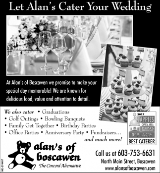 Let Alan's Cater Your Wedding