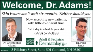 Welcome, Dr. Adams!
