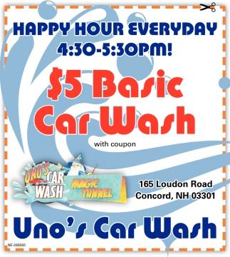$5 Basic Car Wash