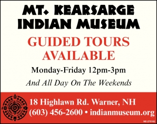 Guided Tours Available