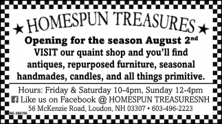 Opening For The Season August 2nd