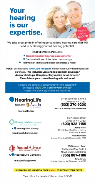 Your Hearing Is Our Expertise