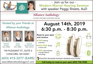 Modern Marvel Hearing Seminar