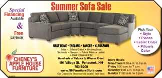 Summer Sofa Sale