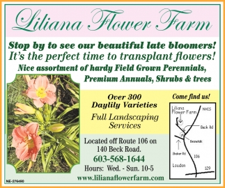 Stop By To See Our Beautiful Late Bloomers!
