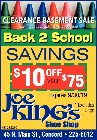 Back 2 School Savings