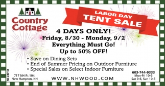 Labor Day Tent Sale