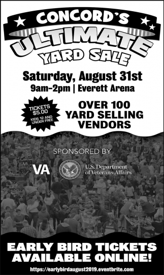 Over 100 Yard Selling Vendors , Concord's Ultimate Yard Sale