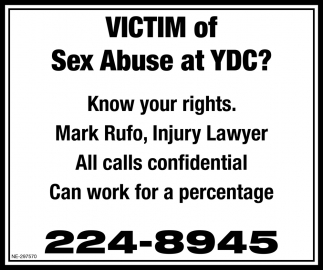 Victim Of Sex Abuse At YDC?