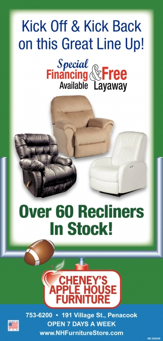 Over 60 Recliners In Stock!