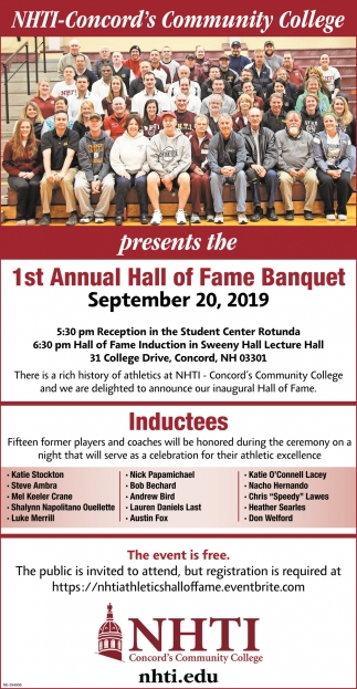 1st Annual Hall Of Fame Banquet