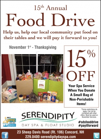 15th Annual Food Drive