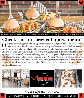 Check Out Our New Enhanced Menu!