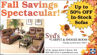 Fall Savings Spectacular!