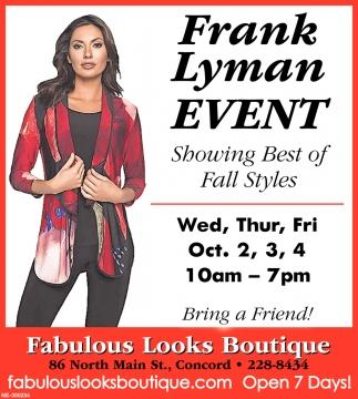 Frank Lyman Event