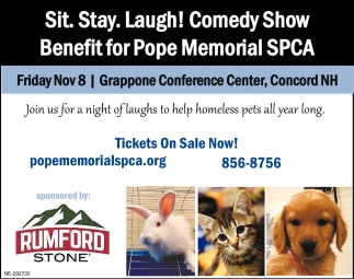 Sit. Stay. Laugh! Comedy Show