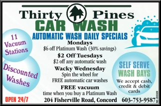 Automatic Wash Daily Specials