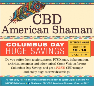 Columbus Day Huge Savings