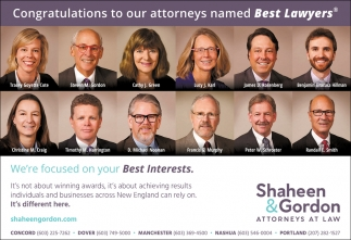Congratulations To Our Attorneys Named Best Lawyers