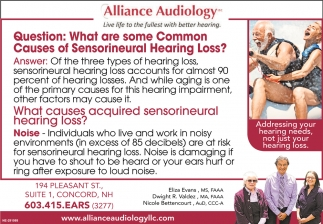 What Are Some Common Causes Of Sensorineural Hearing Loss?