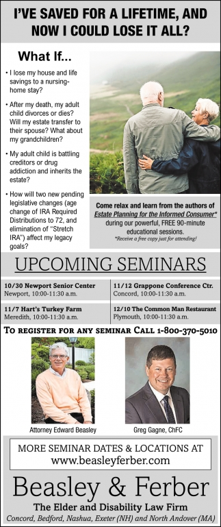 Upcoming Seminars
