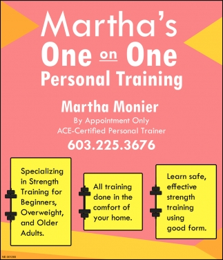 Martha's One On One Personal Training