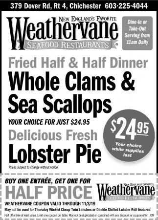 Whole Clams & Sea Scallops