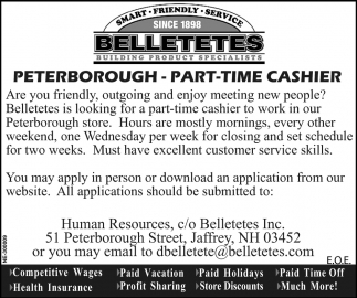 Part Time Cashier