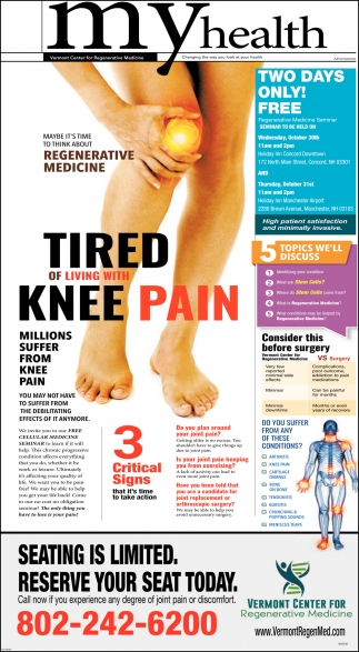 Tired Of Living With Knee Pain