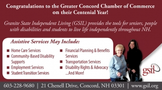 Congratulations To The Greater Concord Chamber Of Commerce