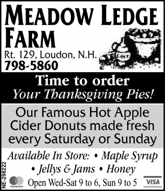Famous Cider Donuts & Tractor Rides On Weekends