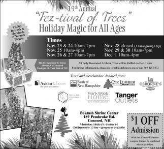 19th Annual Fez-tival Of Trees