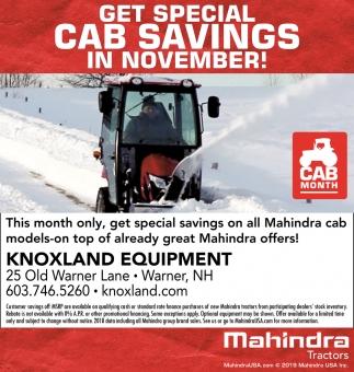Get Special Cab Savings In November!