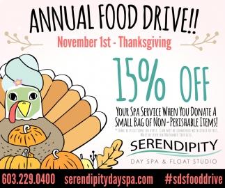 Annual Food Drive!!