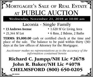 At Public Auction