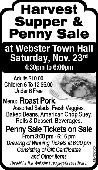 Harvest Supper & Penny Sale