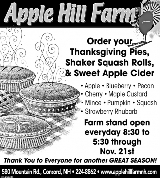 Order Your Thanksgiving Pies