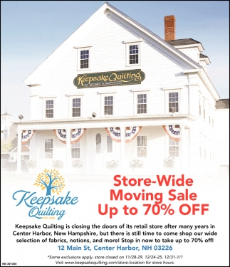 Store Wide Moving Sale