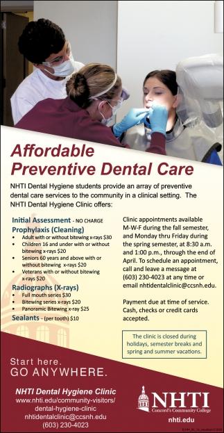 Affordable Preventive Dental Care