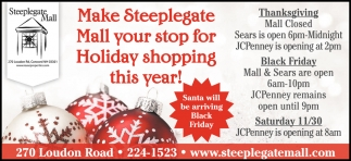Make Steeplegate Mall Your Stop For Holiday Shopping
