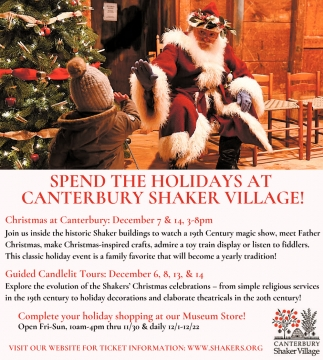 Spend The Holidays At Canterbury Shaker Village