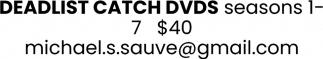 Deadlist Catch DVDs